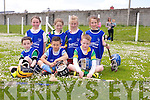 Kilmoyley National School. front l-r Jack O'Mahony, Jevin Carey, Cian McElligott,  back l-r Ciara O'Sullivan, Ruth O'Connor, Lily McGala, Shauna McElligott. at the North Kerry Primary schools Hurling Blitz at Ballyheigue on Thursday