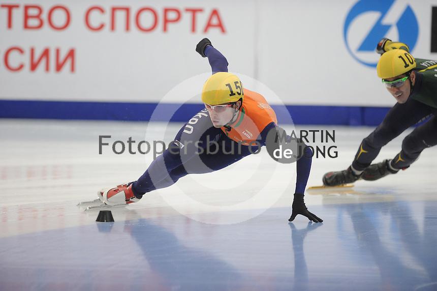 """SHORT TRACK: MOSCOW: Speed Skating Centre """"Krylatskoe"""", 15-03-2015, ISU World Short Track Speed Skating Championships 2015, Freek van der Wart, ©photo Martin de Jong"""