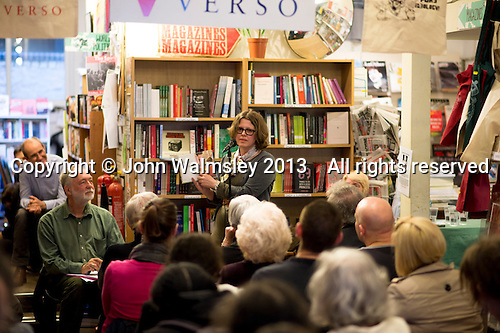 Wendy Jones, author, at the event to discuss Leila Berg's contribution to radical education and children's lives, Houseman's bookshop, London, 22nd May 2013.