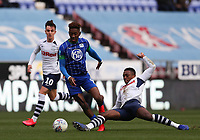 8th February 2020; DW Stadium, Wigan, Greater Manchester, Lancashire, England; English Championship Football, Wigan Athletic versus Preston North End; Scott Sinclair of Preston North End slides in to win the ball from Jamal Lowe of Wigan Athletic as he runs through on goal