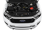 Car stock 2019 Ford Ranger XLT 4 Door Pick Up engine high angle detail view