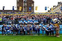 The Bath Rugby guard of honour. Gallagher Premiership match, between Bath Rugby and Gloucester Rugby on September 8, 2018 at the Recreation Ground in Bath, England. Photo by: Patrick Khachfe / Onside Images