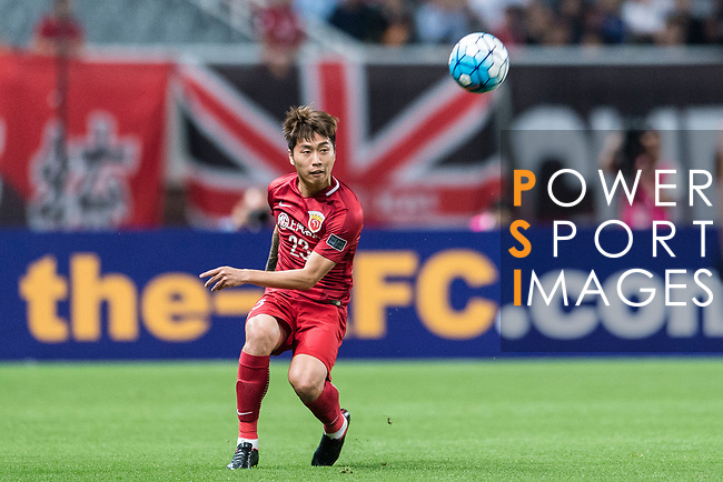 Shanghai FC Defender Fu Huan in action during the AFC Champions League 2017 Round of 16 match between Shanghai SIPG FC (CHN) vs Jiangsu FC (CHN) at the Shanghai Stadium on 24 May 2017 in Shanghai, China. Photo by Marcio Rodrigo Machado / Power Sport Images
