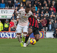 Manchester United's Fred (left) battles with Bournemouth's Jefferson Lerma (right) <br /> <br /> Photographer David Horton/CameraSport<br /> <br /> The Premier League - Bournemouth v Manchester United - Saturday 3rd November 2018 - Vitality Stadium - Bournemouth<br /> <br /> World Copyright &copy; 2018 CameraSport. All rights reserved. 43 Linden Ave. Countesthorpe. Leicester. England. LE8 5PG - Tel: +44 (0) 116 277 4147 - admin@camerasport.com - www.camerasport.com