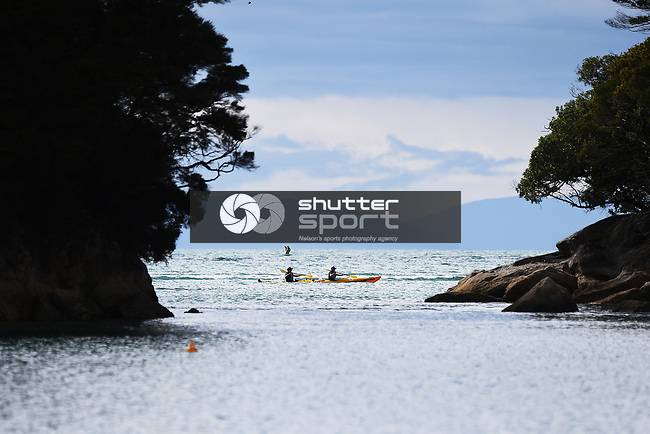 NELSON, NEW ZEALAND - OCTOBER 2: K2M Kayak Promo, Kaiteriteri, Motueka. Wednesday 2 October 2019 in Motueka, New Zealand. (Photo by Chris Symes/Shuttersport Limited)