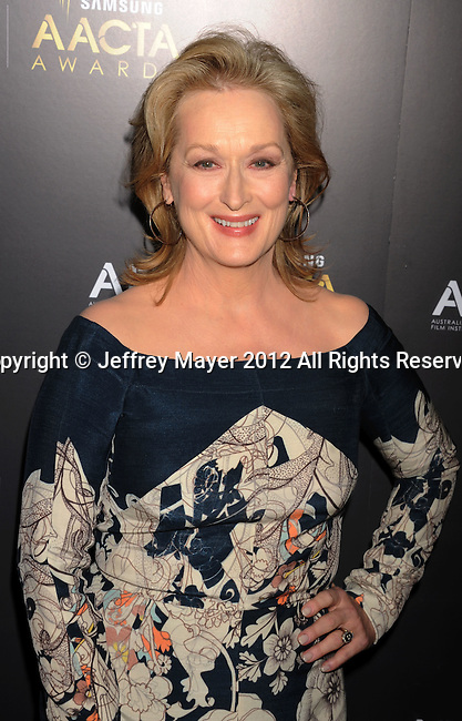 WEST HOLLYWOOD, CA - JANUARY 27: Meryl Streep attends the 2012 Australian Academy Of Cinema And Television Arts Awards at Soho House on January 27, 2012 in West Hollywood, California.