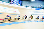 Riders compete in the Women's Points Race 25 km Final during the 2017 UCI Track Cycling World Championships on 16 April 2017, in Hong Kong Velodrome, Hong Kong, China. Photo by Marcio Rodrigo Machado / Power Sport Images