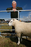 Christy Curtin and his prize winning Ram at the Town and Country Fair, Miltown Malbay, Co Clare Ireland.Picture James Horan.www.jameshoran.com.au.ALL MU IMAGES ARE COPYRIGHT.NORMAL FEES WILL APPLY