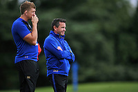 Bath Rugby Head Coach Mike Ford looks on. Bath Rugby training session on September 4, 2015 at Farleigh House in Bath, England. Photo by: Patrick Khachfe / Onside Images
