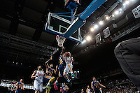 SPAIN, Madrid: Real Madrid's American player Jaycee Carroll during the Liga Endesa Basket 2014/15 match between Real Madrid and Ucam Murcia, at Palacio de los Deportes in Madrid on November 16, 2014. /NortePhoto<br />