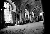 Detroit, Michigan.USA.January 18, 2010..The interior of Detroit's former central train station.