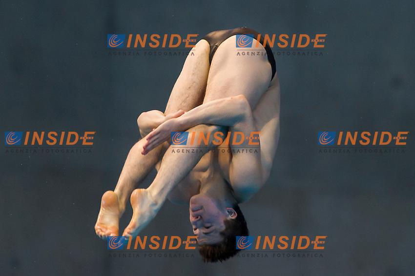 WOODWARD Frederick GBR<br /> London, Queen Elizabeth II Olympic Park Pool <br /> LEN 2016 European Aquatics Elite Championships <br /> Diving<br /> Men's 3m springboard preliminary <br /> Day 04 12-05-2016<br /> Photo Giorgio Perottino/Deepbluemedia/Insidefoto
