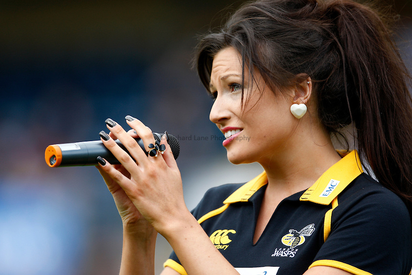 Photo: Richard Lane/Richard Lane Photography. London Wasps v Leicester Tigers. 11/09/2011. Solo Voci's Charotte Pearson.