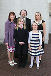 Sorcha O'Dwyer at her Confirmation in The Star of the Sea Church with her sponsor, Grainne and Laura, Sean and Caitlin...Photo NEWSFILE/Jenny Matthews.(Photo credit should read Jenny Matthews/NEWSFILE)....This Picture has been sent you under the condtions enclosed by:.Newsfile Ltd..The Studio,.Millmount Abbey,.Drogheda,.Co Meath..Ireland..Tel: +353(0)41-9871240.Fax: +353(0)41-9871260.GSM: +353(0)86-2500958.email: pictures@newsfile.ie.www.newsfile.ie.FTP: 193.120.102.198.