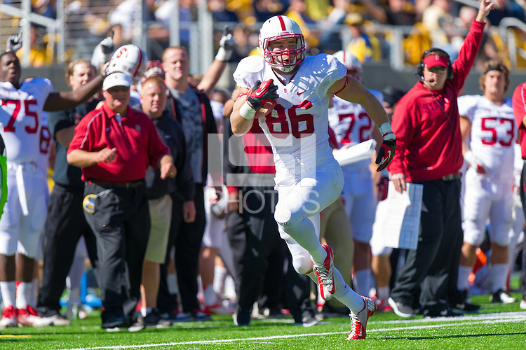 BERKELEY, CA - OCTOBER 20, 2012: Stanford vs Cal in the 115th Big Game at Memorial Stadium. Stanford defeated Cal 21-3.