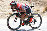 Eternal breakaway man Thomas De Gendt (BEL) Lotto-Soudal during Stage 13 of the 2017 La Vuelta, running 198.4km from Coin to Tomares, Seville, Spain. 1st September 2017.<br />