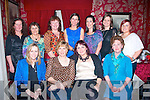 ON THE MOVE: After 10yrs Castleisland ladies, Mary O'Leary and Lisa O'Connor (seated 2nd and 3rd left) who are both moving from the Kerry County Council planning Dept, Rathass, Tralee, Mary to County Housing dept., and Lisa to Tralee UDC housing dept., and they are pictured here celebrating with colleagues on Friday night in Cassidy's restaurant, Abbey Sq, Tralee. Front l-r: Margaret Lacey, Mary O'Leary, Lisa O'Connor and Geraldine O'Keeffe. Back l-r: Marian Buckley, Kathleen Horan, Kay O'Carroll, Michelle Culloo, Joanne Noonan, Christina Lally and Ann Sullivan.