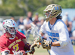 Corona Del Mar, CA 04/02/16 - Brandon Nahum (Torrey Pines #2) and Nate Neumann (Corona Del Mar #22) in action during the non-conference game between the Nike/LM High School Boys' National Western Region #4 Torrey Pines (#4) and #5 Corona Del Mar.  Torrey Pines defeated Corona Del Mar 9-8 in overtime.