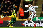 David McGoldrick of Sheffield United shoots at goal during the Premier League match at Carrow Road, Norwich. Picture date: 8th December 2019. Picture credit should read: James Wilson/Sportimage