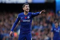 Jorginho of Chelsea during Chelsea vs Everton, Premier League Football at Stamford Bridge on 11th November 2018