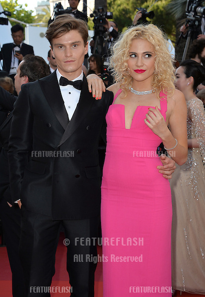 Pixie Lott &amp; husband Oliver Cheshire at the gala premiere of &quot;From the Land of the Moon&quot; (&quot;Mal de Pierres&quot;) at the 69th Festival de Cannes.<br /> May 15, 2016  Cannes, France<br /> Picture: Paul Smith / Featureflash