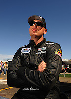 Apr 17, 2009; Avondale, AZ, USA; NASCAR Nationwide Series driver Kevin Hamlin during qualifying prior to the Bashas Supermarkets 200 at Phoenix International Raceway. Mandatory Credit: Mark J. Rebilas-