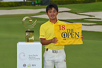 New champion, Takumi KANAYA (JPN) following Rd 4 of the Asia-Pacific Amateur Championship, Sentosa Golf Club, Singapore. 10/7/2018.<br /> Picture: Golffile | Ken Murray<br /> <br /> <br /> All photo usage must carry mandatory copyright credit (&copy; Golffile | Ken Murray)