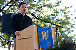 Associated Students of Western Nevada President Alexandru Suciu speaks at the Western Nevada College commencement ceremony in Carson City, Nev., on Monday, May 20, 2019. <br /> Photo by Cathleen Allison/Nevada Momentum