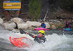 May 30, 2016 - Buena Vista, Colorado, U.S. -  Women's freestyle kayaker, Katie Jackson, in action during the CKS Paddlefest, one of the Rocky Mountain Region's first adventure events of the summer in Buena Vista, Colorado.