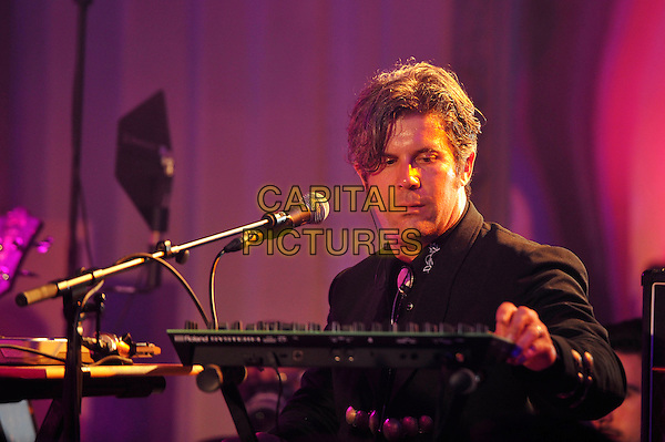 LONDON, ENGLAND - SEPTEMBER 8: Ed Harcourt on stage with Sophie Ellis-Bextor performing at Bush Hall on September 8, 2016 in London, England.<br /> CAP/MAR<br /> &copy;MAR/Capital Pictures