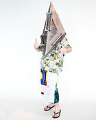 Daryl Ludwig, of Greensboro, N.C., dressed as Pyramid Head from Silent Hill