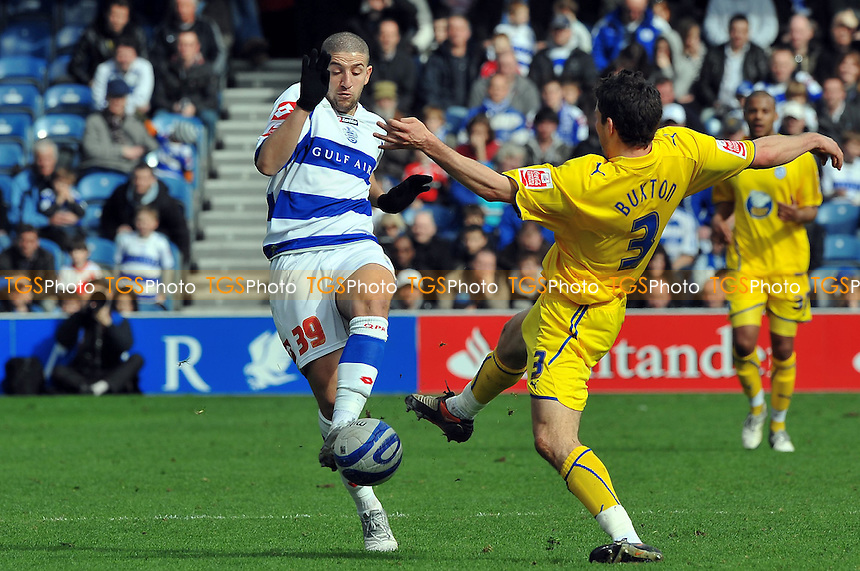 Aadel Taarabt of QPR and Lewis Buxton Sheffield Wed- Queens Park Rangers vs Sheffield Wednesday Coca-Cola Championship football at Loftus road London 3rd April 2010 - MANDATORY CREDIT: Martin Dalton-TGSPHOTO - Self billing applies where appropriate - 0845 094 6026 - contact@tgsphoto.co.uk - NO UNPAID USE..
