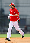 25 February 2012: Washington Nationals' outfielder Jayson Werth rounds the bases during the first full squad Spring Training workout at the Carl Barger Baseball Complex in Viera, Florida. Mandatory Credit: Ed Wolfstein Photo