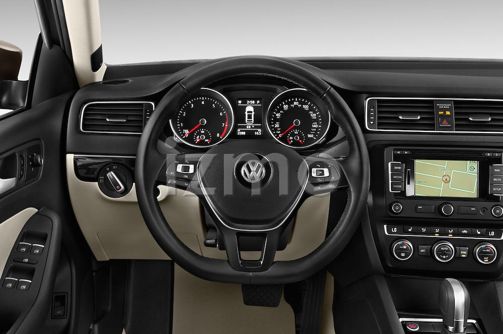 Car pictures of steering wheel view of a 2015 Volkswagen Jetta 2.5L SEL 4 Door Sedan Steering Wheel