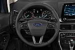 Car pictures of steering wheel view of a 2018 Ford EcoSport SE 5 Door SUV