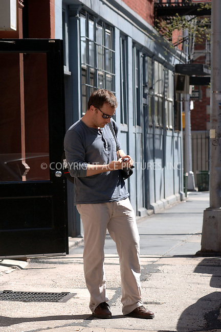 WWW.ACEPIXS.COM . . . . .  ....April 20 2006, New York City....**EXCLUSIVE-FEE MUST BE AGREED BEFORE USE**....Peter Sarsgaard chatting away on his cellphone in his West Village neighborhood.......Please byline: BRETT KAFFEE-ACEPIXS.COM.... *** ***..Ace Pictures, Inc:  ..(212) 243-8787 or (646) 769 0430..e-mail: picturedesk@acepixs.com..web: http://www.acepixs.com