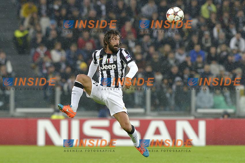 Andrea Pirlo Juventus,<br /> Torino 04-11-2014, Juventus Stadium, Football Calcio 2014/2015 Champions League, Juventus - Olympiacos, foto Filippo Alfero/Insidefoto