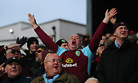 Burnley fans singing during the game <br /> <br /> Photographer Ashley Crowden/CameraSport<br /> <br /> The Premier League - Crystal Palace v Burnley - Saturday 13th January 2018 - Selhurst Park - London<br /> <br /> World Copyright &copy; 2018 CameraSport. All rights reserved. 43 Linden Ave. Countesthorpe. Leicester. England. LE8 5PG - Tel: +44 (0) 116 277 4147 - admin@camerasport.com - www.camerasport.com