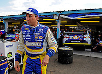 Nov. 13, 2009; Avondale, AZ, USA; NASCAR Sprint Cup Series driver David Reutimann during practice for the Checker O'Reilly Auto Parts 500 at Phoenix International Raceway. Mandatory Credit: Mark J. Rebilas-
