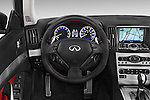 Car pictures of steering wheel view of a 2015 Infiniti Q60 Ipl 2 Door Convertible