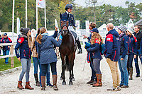 USA-Jennie Brannigan rides Stella Artois during the first day of Dressage for the CCIO4*-L FEI Nations Cup Eventing. 2019 Military Boekelo-Enschede International Horse Trials. Thursday 10 October. Copyright Photo: Libby Law Photography.