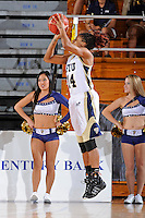 28 November 2010:  FIU player Rakia Rodgers (14) shoots a jump shot in the first half as the FIU Golden Panthers defeated the Indiana State Sycamores, 68-47, to win the 16th annual FIU Thanksgiving Classic at the U.S. Century Bank Arena in Miami, Florida.
