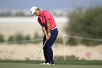 Thorbjorn Olesen (DEN) chips onto the 5th green during Friday's Round 3 of the Commercial Bank Qatar Masters 2013 at Doha Golf Club, Doha, Qatar 25th January 2013 .Photo Eoin Clarke/www.golffile.ie