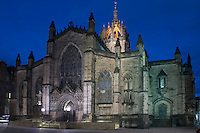 St. Giles Cathedral at twilight, Edinburgh, Scotland