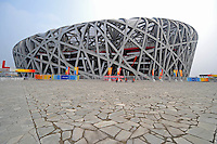 Aug. 8, 2008; Beijing, CHINA; National Stadium prior to the start of the opening ceremonies for the 2008 Beijing Olympic Games. Mandatory Credit: Mark J. Rebilas-