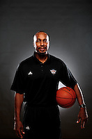 Dec. 16, 2011; Phoenix, AZ, USA; Phoenix Suns coach Elston Turner poses for a portrait during media day at the US Airways Center. Mandatory Credit: Mark J. Rebilas-