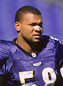 Baltimore Ravens Peter Boulware (58) during a game from his 1998 season with Baltimore Ravens. Peter Boulware played for 8 years all with the Baltimore Ravens and was a 4-time Pro Bowler.(SportPics)
