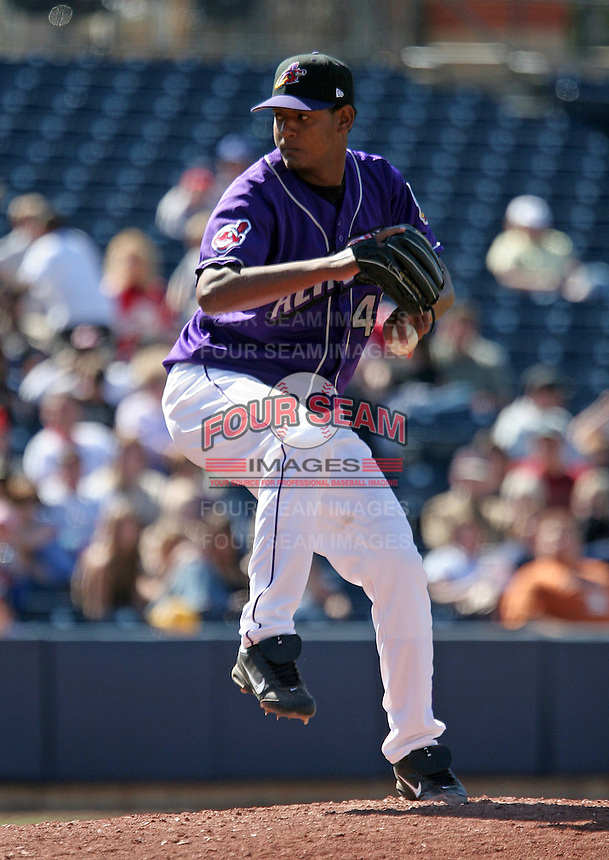 Akron Aeros Juan Lara during an Eastern League game at Canal Park on April 15, 2006 in Akron, Ohio.  (Mike Janes/Four Seam Images)