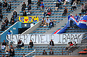 Suwon Samsung Bluewings fans, APRIL 19, 2011 - Football : AFC Champions League 2011 Group H, between Kashima Antlers 1-1 Suwon Samsung Bluewings at National Stadium, Tokyo, Japan. The game started at 2pm on Tuesday afternoon in Tokyo as Kashima are unable to use their home stadium as a result of the earthquake and tsunami that hit the east coast of Japan on March 11th 2011 and due to the ongoing nuclear crisis in Fukushima which has reduced the electricity supply to the region meaning that floodlit night games cannot be justified. (Photo by Jun Tsukida/AFLO SPORT) [0003]