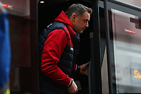 Swansea City goalkeeper coach Tony Roberts arrives at bet365 Stadium prior to kick off of the Premier League match between Stoke City and Swansea City at the bet365 Stadium, Stoke on Trent, England, UK. Saturday 02 December 2017